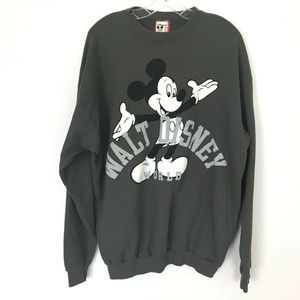 Walt Disney Mickey Mouse Crewneck Sweatshirt VTG